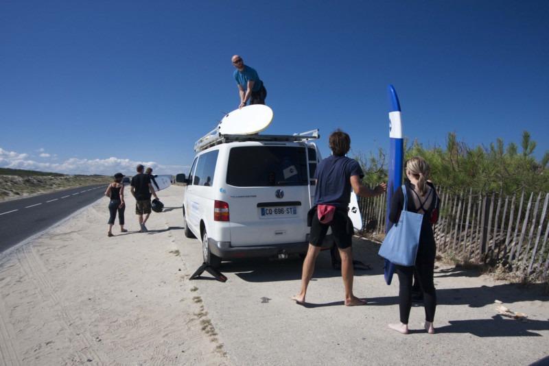Photo du camion de l'école de surf Ulmo