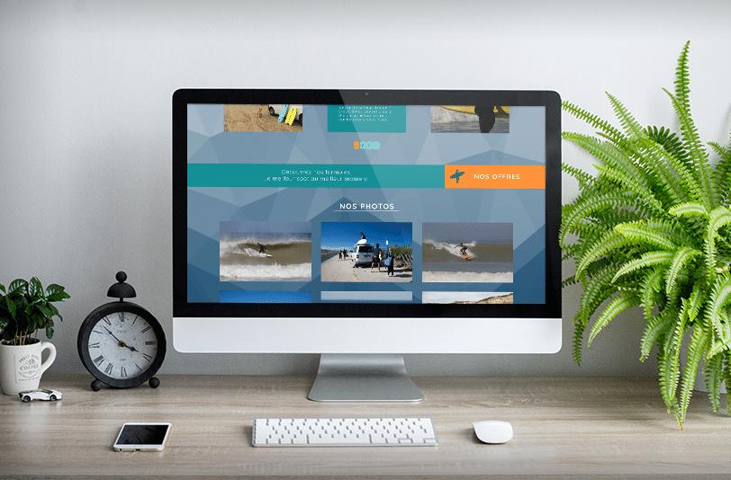 Webdesign du site Ulmo surf school sur Soulac